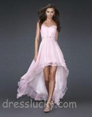 jovani prom dress short high low pink cocktail dress free shippin