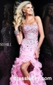 prom dresses Sherri Hill 9409 pink long