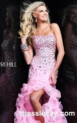 prom dresses Sherri Hill 9409 pink long prom dresses