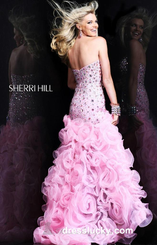 prom dresses Sherri Hill 9409 pink long prom dresses 2