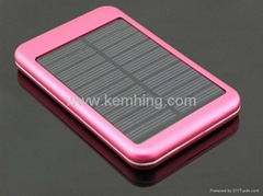 5000mAh Solar Power Bank Portable Battery Charger for Cellphone and Tablet PC