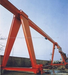 MH model Electric Hoist Gantry Crane 32T  girder covered by the shafts