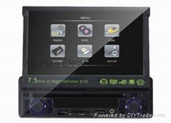"1 Din car DVD player with 7"" LCD TFT display"
