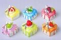 pvc cake shape fridge magnet, built in