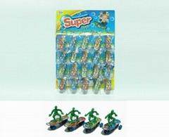 吊板裝回力迷你QQ滑板車玩具