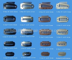 clips for clip in hair and wig hair extensions