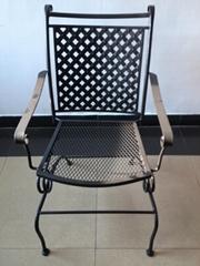 菱形网鐵椅