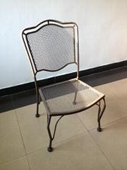 菱形网铁椅