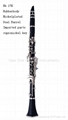 Musical instruments Bb tone 17keys rubber body clarinet