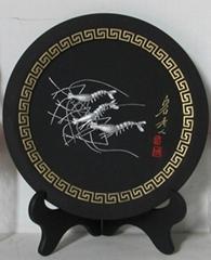 圆盘摆件活性炭雕工艺品富甲天下