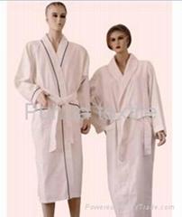 customized 100% cotton bathrobe