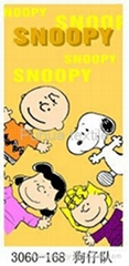 snoopy beach towel