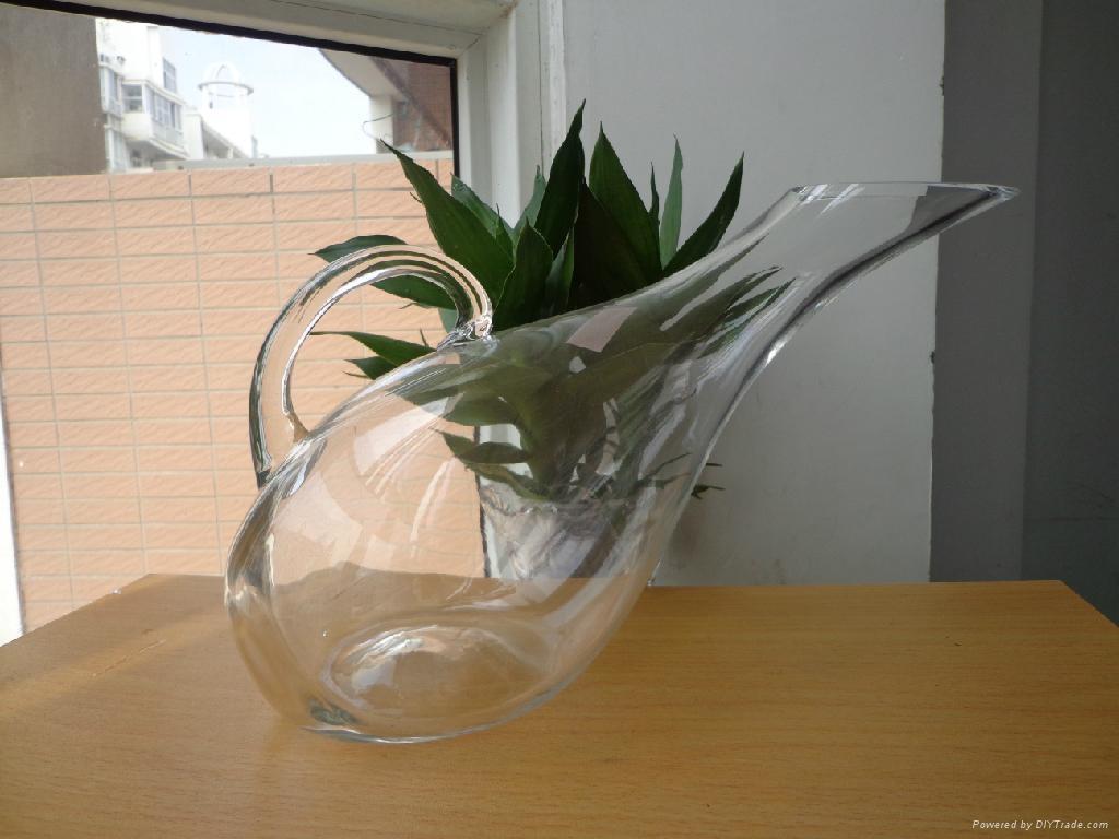 高白料玻璃大天鹅壶醒酒器   1