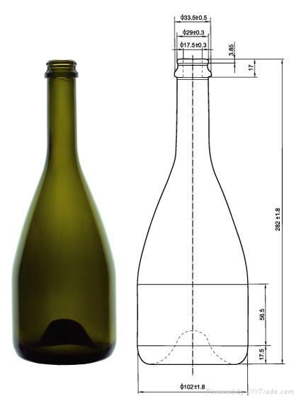 进口红酒瓶