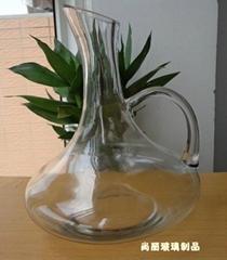 特价高白料玻璃带把倒酒壶