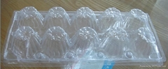 Plastic trays for egg