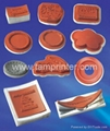 Silicone plate for hot stamping