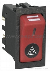 24v  Hazard rocker switch with on-off position