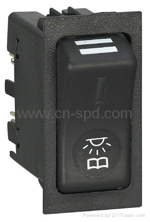 24v  Hazard rocker switch with on-off position 4