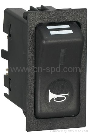24v  Hazard rocker switch with on-off position 5