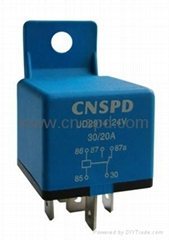24V 40/30A Auto relay with handle and protect diode