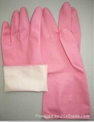 40g long latex/ rubber household cleaning gloves