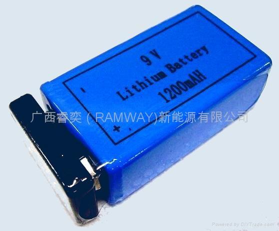 er9v,cr9v 专用烟雾报警器锂电池图片