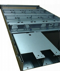 Networking cabinet aluminum sheet metal fabrication