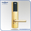 the popular Business hotel keyless card lock for door in American