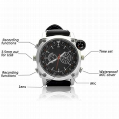 Hot Selling Waterproof Spy Surveillance Watch Hidden Camera DVR with 720P HD