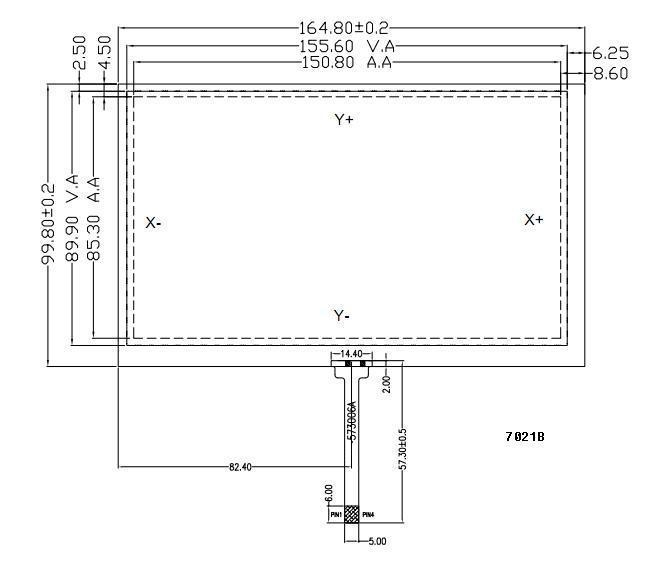 """7"""" 4-wire resistive touch panel 1"""
