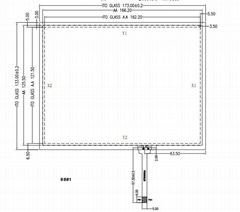 """8"""" 4-wire resistive touch panel"""