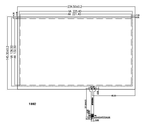 """10.1"""" 4 wire resistive touch panel 2"""