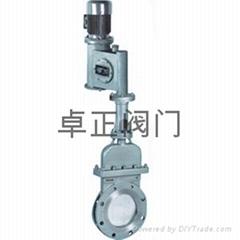 DMZ73电液动暗杆刀型闸阀