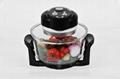 12L multifunctional glass cooker halogen oven KM-803B 2