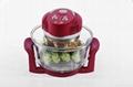 12L multifunctional glass cooker halogen oven KM-803B 4