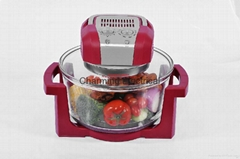 12L multifunctional glass microwave halogen oven KM-805