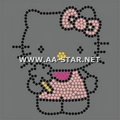 hotfix rhinestone transfer,hello kitty rhinesotne motif design