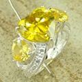 镀925纯银锆石戒指