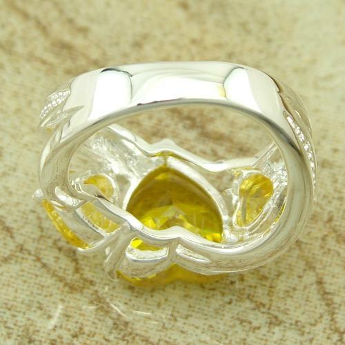 镀925纯银锆石戒指 2