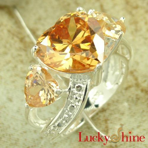 香槟色锆石戒指 1