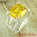 金黄色锆石戒指
