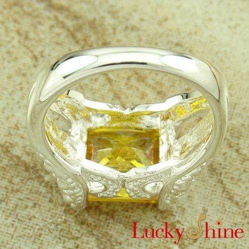 金黄色锆石戒指 2