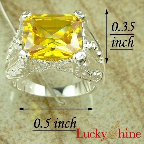 金黄色锆石戒指 3