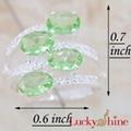 果绿石戒指