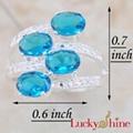 瑞士蓝晶石戒指