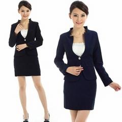 freeship !wholesale women autumn,  simple  collarless suits.