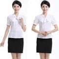 freeship!women white summer short shirt