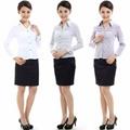 freeship! fashion, white, purple,gray female business shirt 1