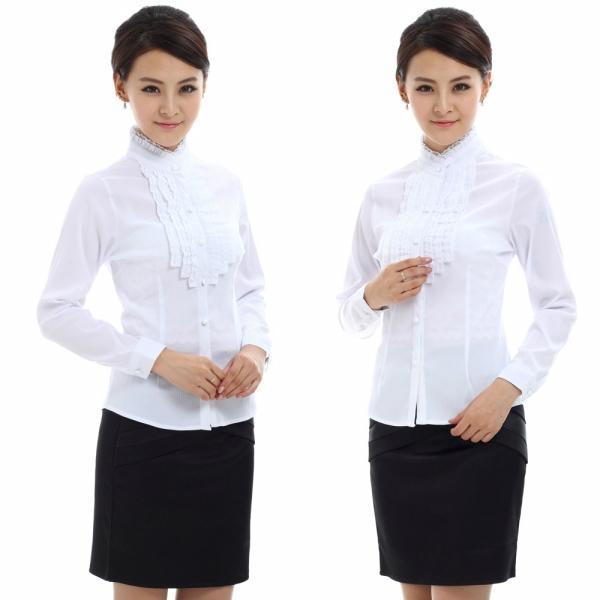 freeship! women easycare , white, purple,gray business clothing 1